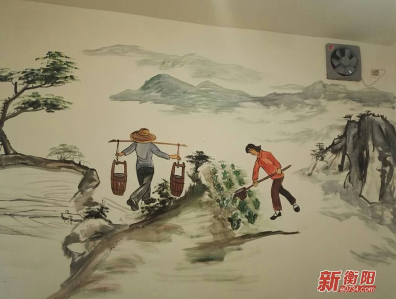 """退伍军人肖天宝:用""""墙绘""""丹青书写雁城文明"""