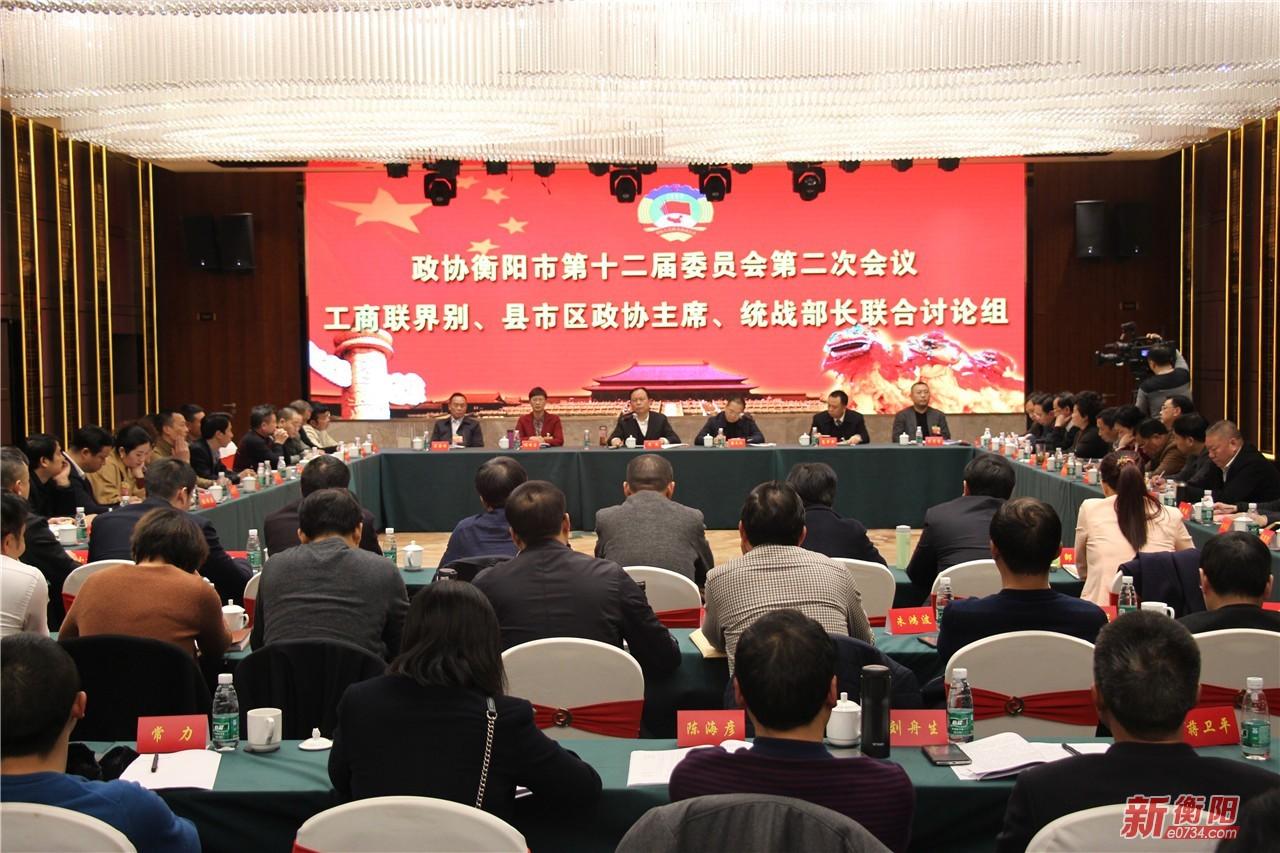 周农参加衡阳市政协十二届二次会议分组讨论
