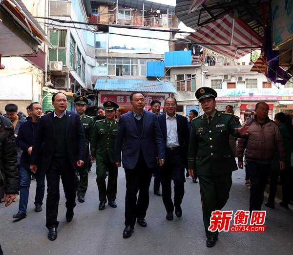 郑建新调研珠晖区商贸市场消防隐患整改工作
