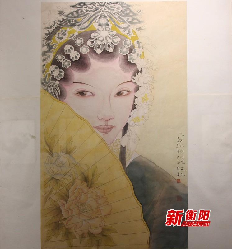 """衡阳市第六届女子书画展""""春山如笑""""在美术馆开幕"""