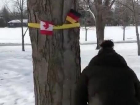 """糗大了!加拿大挂德国国旗""""迎接""""比利时国王夫妇"""