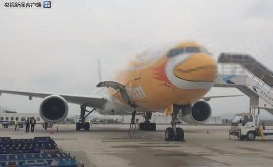 泰国飞机降落南京机场过程中遭雷击引擎受损