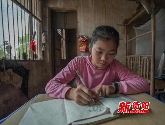 回访留守儿童汪美琪:端午节我最喜欢吃肉粽子