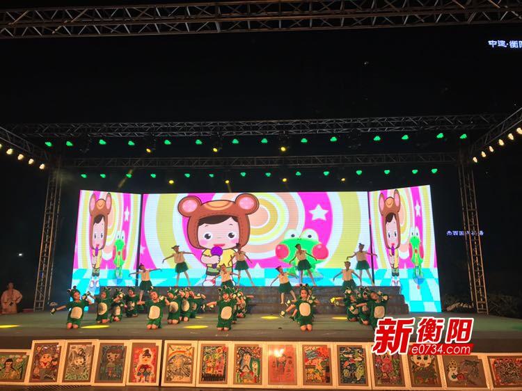 """衡阳""""广场旬旬演""""群众文化活动在莲湖广场上演"""