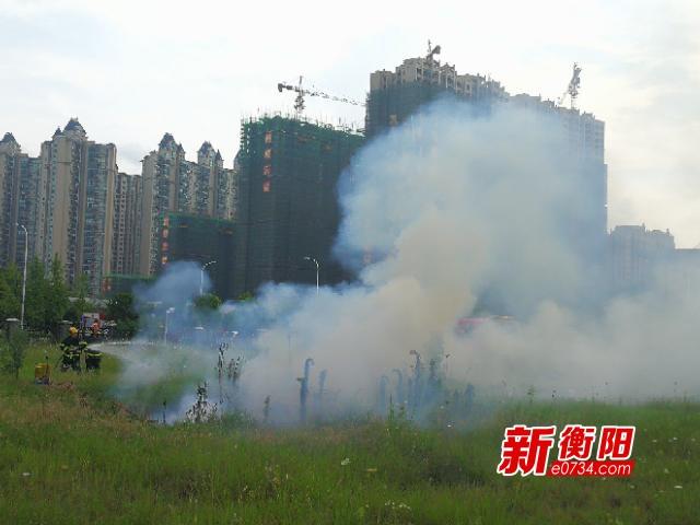 """衡阳高新开发区组织开展""""实战""""消防安全应急演练"""