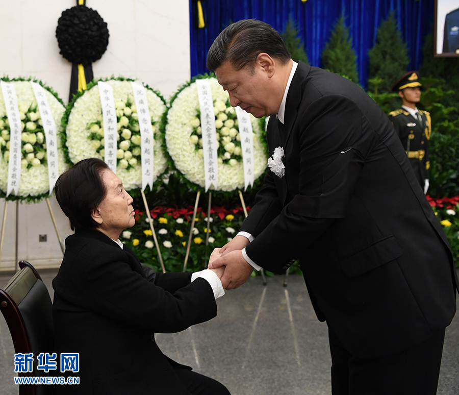 赵南起同志遗体在京火化 习近平等到八宝山革命公墓送别
