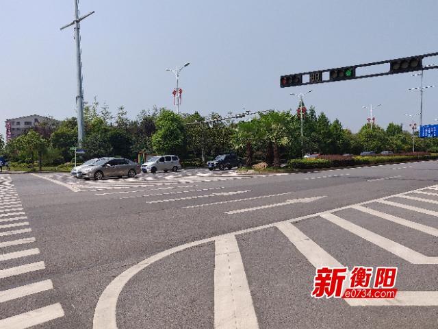 车主请注意!衡阳市城区5个重要路口车道变窄