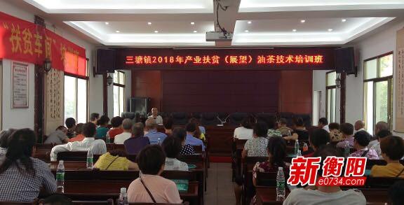 产业扶贫:衡南组织贫困劳动力培训油茶种植技术