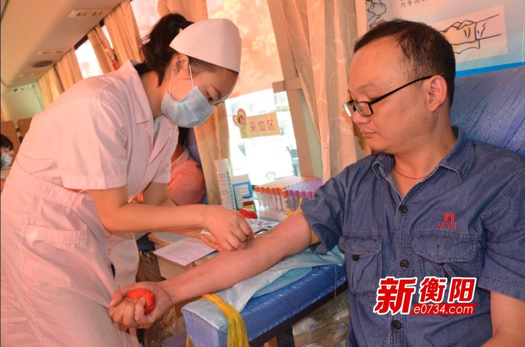 衡阳运机员工无偿献血 8000毫升热血温暖雁城