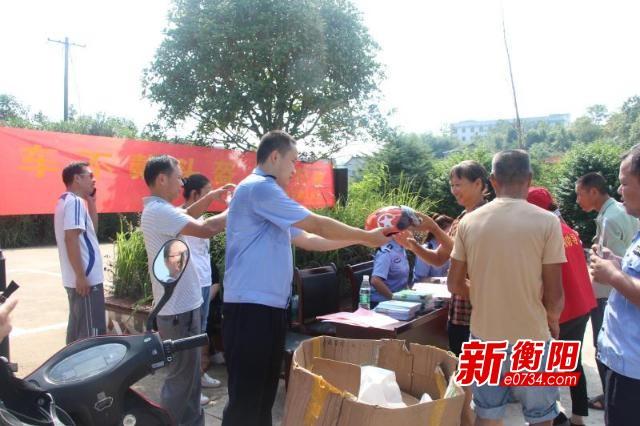 """蒸湘交警联合开展农村交通安全""""集中攻坚""""行动"""