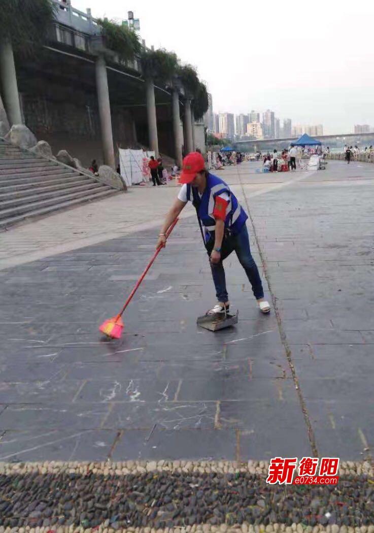 节日坚守:雁峰区民间河长积极护河行动不放假