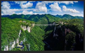 张家界大峡谷玻璃桥代表中国元素登上吉尼斯年鉴