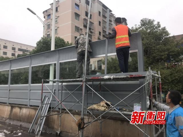 好消息!杨柳立交桥安装隔音板 降噪消声还静于民