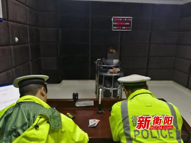 雁峰区交警夜查行动 抓获无证毒驾刑拘在逃男子