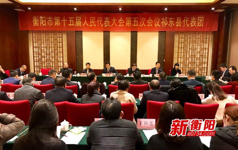 廖健参加市十五届人大五次会议祁东、雁峰团讨论
