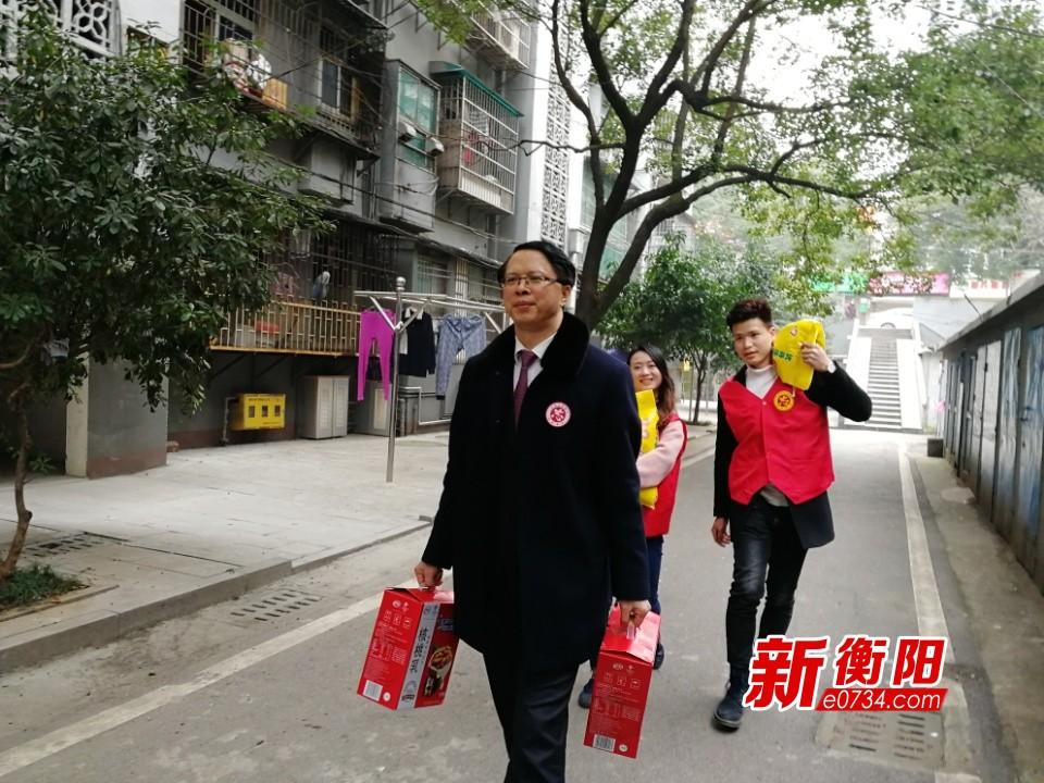 冬日暖阳:衡阳备战青年志愿者协会慰问困难群众