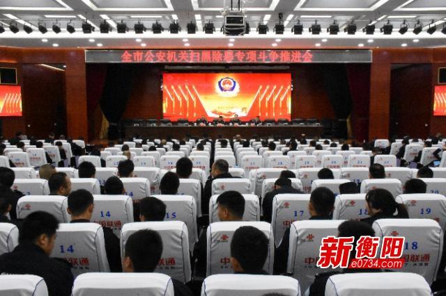 衡阳市推进扫黑除恶专项斗争 战果排名全省前列