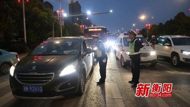 衡阳近800名交警参战护卫国际马拉松赛交通安全