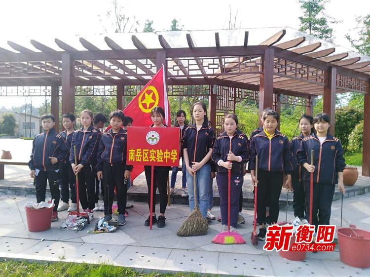 """""""衡阳群众""""在行动:南岳区实验中学开展大扫除"""
