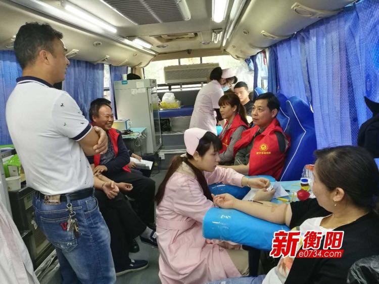 衡陽群眾在行動:柏坊鎮無償獻血2.16萬毫升