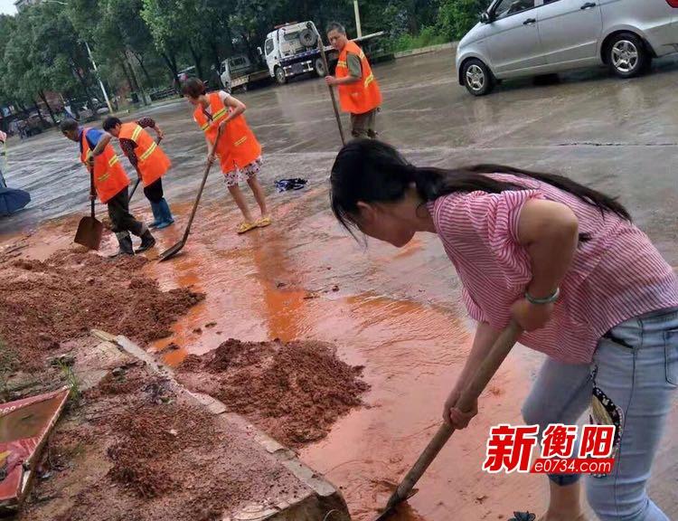 常宁城管局积极清理修复雨后街道 维护市容洁净