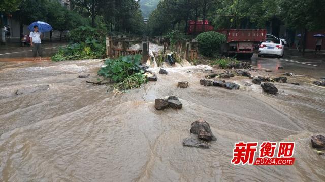 暴雨持續!祁東湘江歸陽站水位超警戒線1.02米