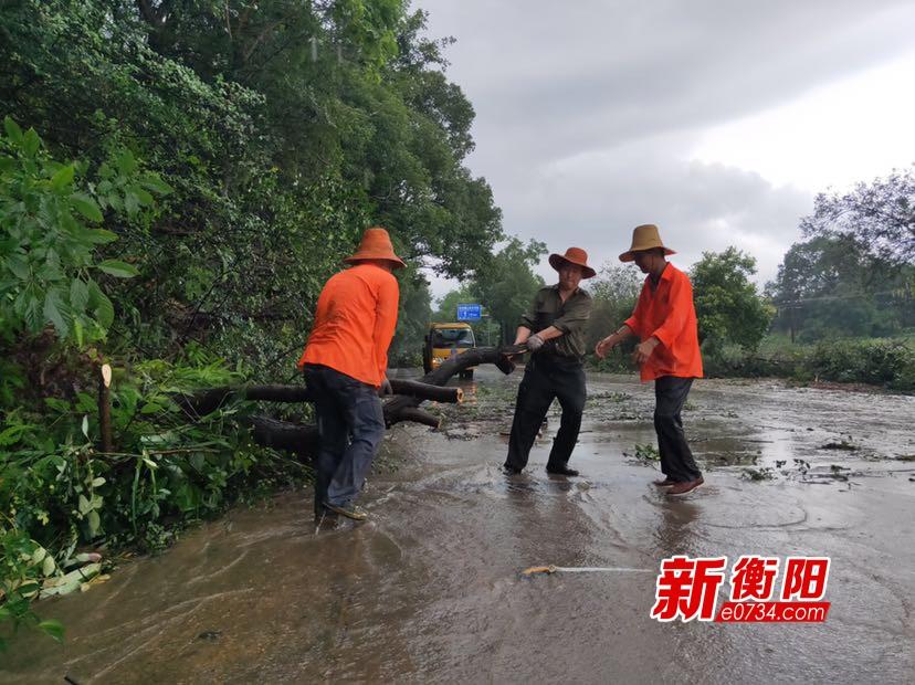 衡山公路部門與暴雨較量 全力以赴保障公路暢通