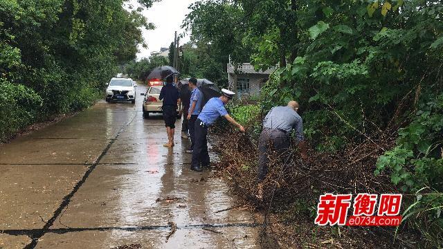 最新情況!衡東縣汛情嚴重 多路段無法正常通行