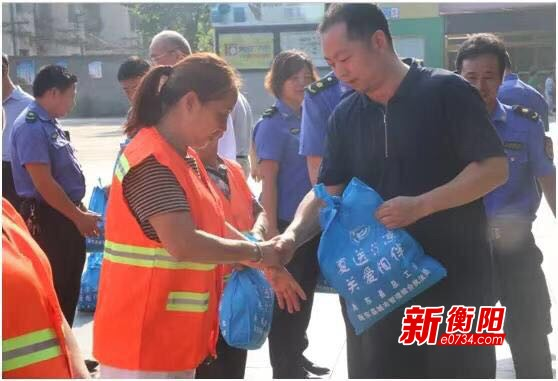 炎炎夏日送清涼 衡東縣總工會情系高溫一線勞動者