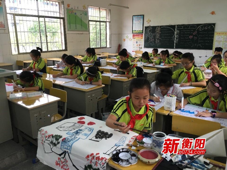 """蒸湘区举行""""我和祖国共成长·做好新时代接班人""""书画比赛"""