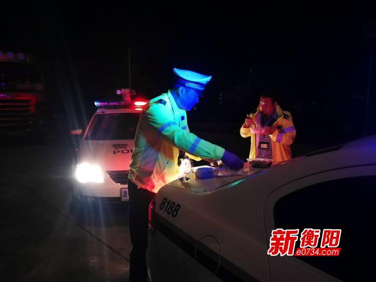 衡阳高速交警国庆期间共查处交通违法6594起