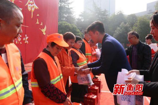 加油鼓劲!潇湘街道联合辖区企业慰问辖区环卫工人