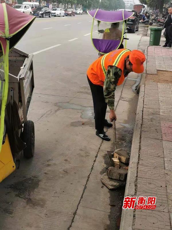 """衡阳城管局践行主题教育 大力整治城区""""脏乱臭""""问题"""