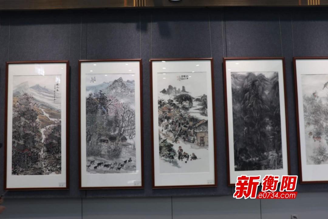 衡阳、桂林两市书画联展在衡开展 市民尽享艺术盛宴