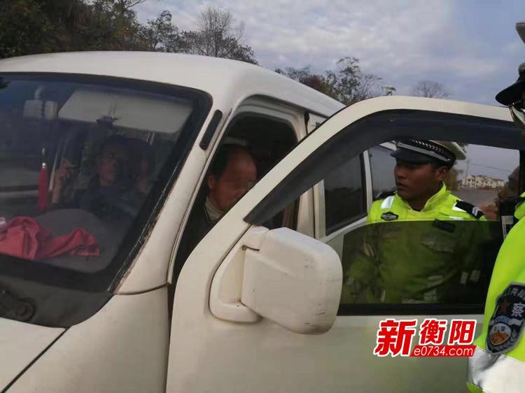 """衡南交警查獲岐山旅游景區""""打鳥""""式非法載客車輛"""