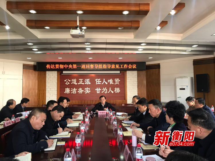 衡阳市召开传达贯彻中央第一巡回督导组指导意见工作会议