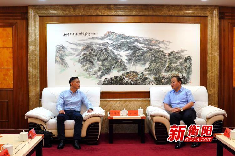 朱健会见德拓大数据CEO黄海清 共同探索成立大数据中心