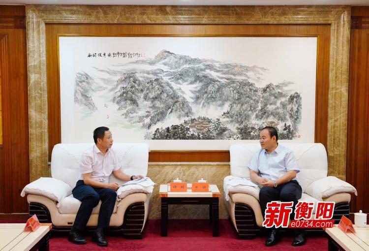 """把握衡阳5G建设""""新风口"""" 朱健会见湖南联通总经理谭明"""