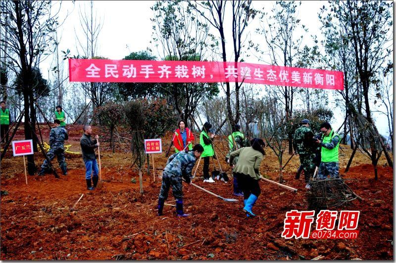 衡阳市林业局召集志愿者赴衡山科学城植树造林