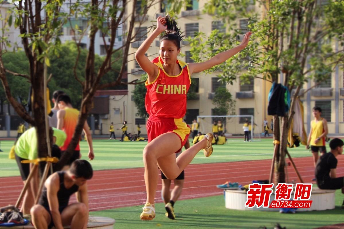 喜迎省运会:衡阳市二中运动健儿积极备战信心足