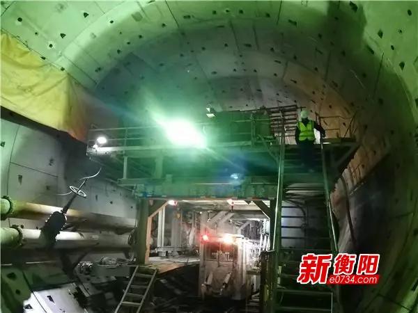 衡阳湘江隧道冲刺最后50米 5月初实现双线贯通