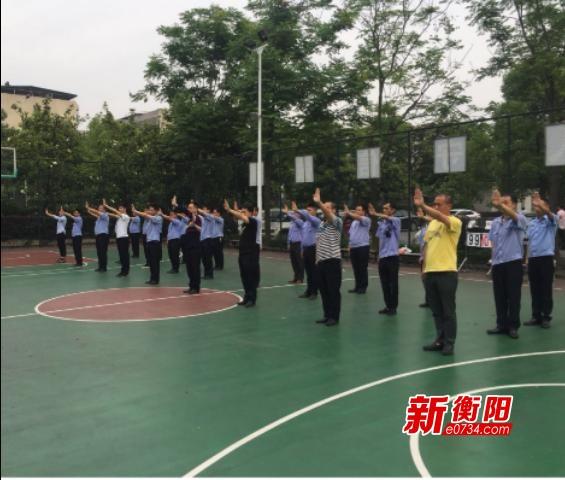 蒸湘交警大队做实政治建警 强化辅警训练
