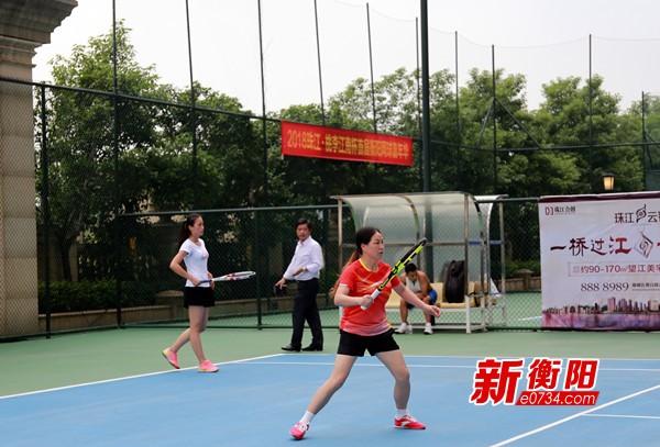 喜迎省运会:衡阳市首届网球公开赛正式拉开战幕