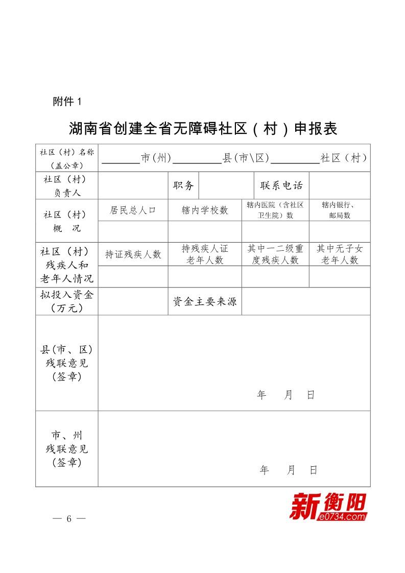 湖南省残疾人联合会文件