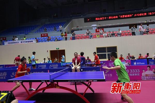 省运最前线:青少年组乒乓球赛在衡阳挥拍开赛