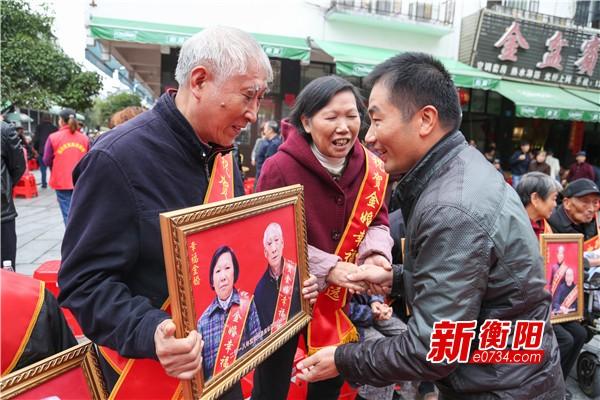 我们的节日·重阳:岳庙社区老人欢聚幸福长者宴