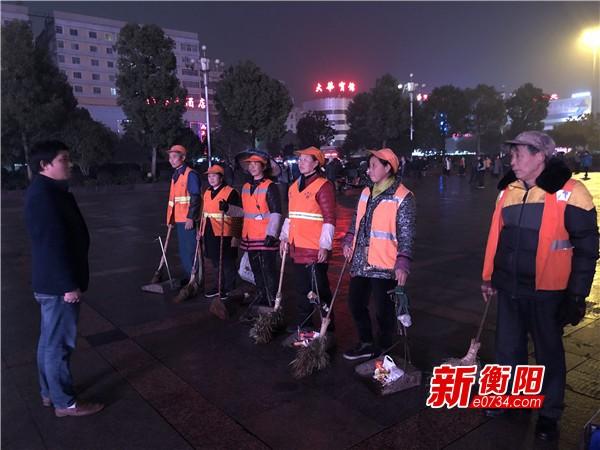 护航平安夜:衡阳环卫部门全员上岗保障环境卫生