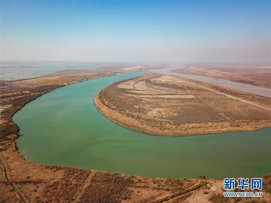 (环境)(1)鸟瞰黄河口湿地风光