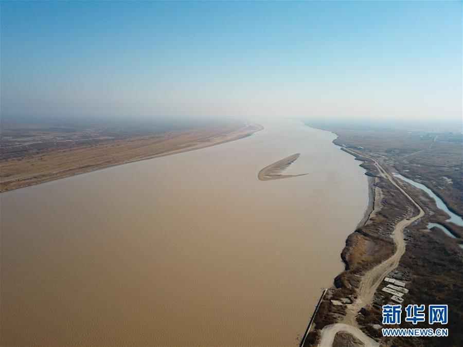 (环境)(5)鸟瞰黄河口湿地风光