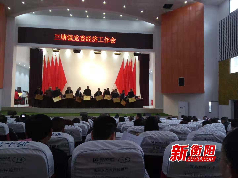 争当衡南建设排头兵 三塘镇去年财政收入1.8亿